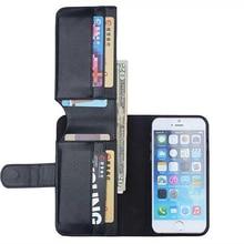 Retro de cuero de LA PU caso de la cubierta para el iphone 6 Plus 5.5 pulgadas Monedero diseño stands tirón de la bolsa del teléfono con marco de fotos y tarjeta de crédito titular