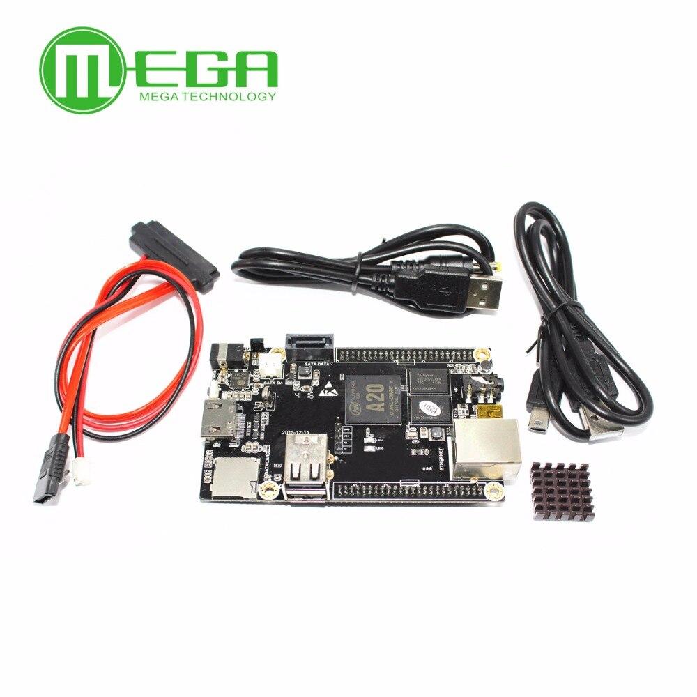 1 pcs PC Cubieboard A20 Dual-core Conselho de Desenvolvimento, Cubieboard2 dual core com 4 GB de Memória Flash Nand