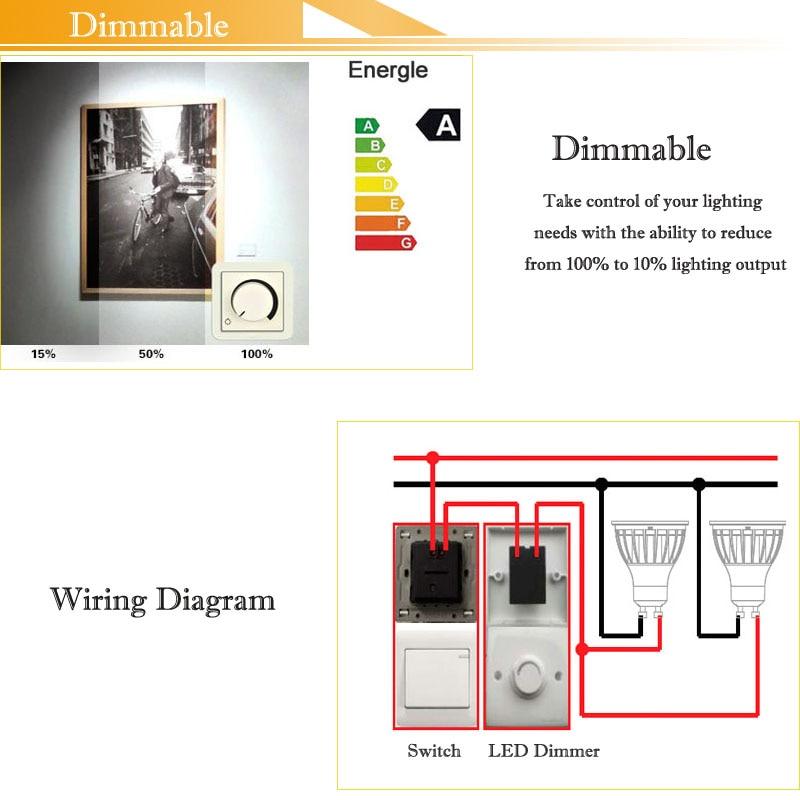GU10 COB MR16 Lampadine LED Dimmerabile Lampada fiala 220 V 110 V 12 V E27 E14 focos led 7 W 5 W alluminio per downlight da DHL 30 pz - 5