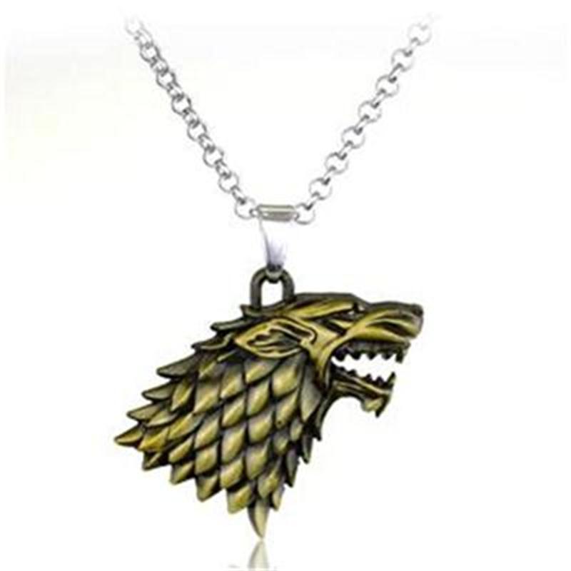 Vægt 40g Game of Thrones Stark Familie Goshawk Head Badge Wolf Chain - Mode smykker - Foto 3