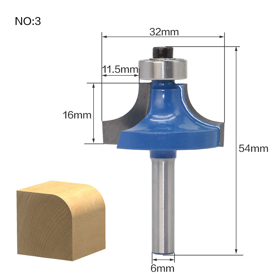Купить с кэшбэком 1pcs 6mm Shank wood router bit Straight end mill trimmer cleaning flush trim corner round cove box bits tools Milling Cutter
