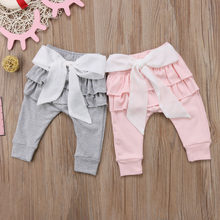 8a93b39edea2b 2017 Cute Big Bow Trousers Infant Baby Girls Toddlers Kids New Cotton Casual  Bottoms Pants(