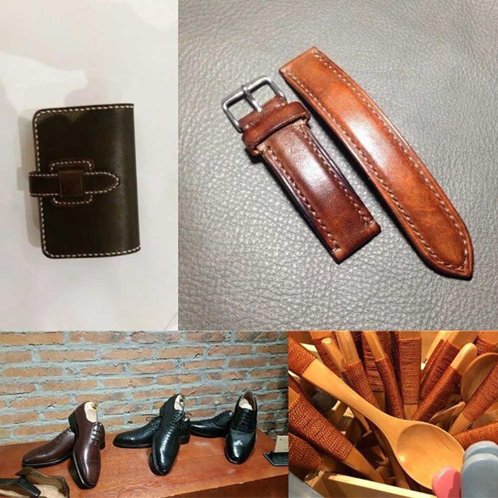 Sanbest 50 m/rollo encerado hilos de coser 150D plana duradera fuerte de Nylon hilo para coser cuero para artesanía zapatos de herramientas de costura