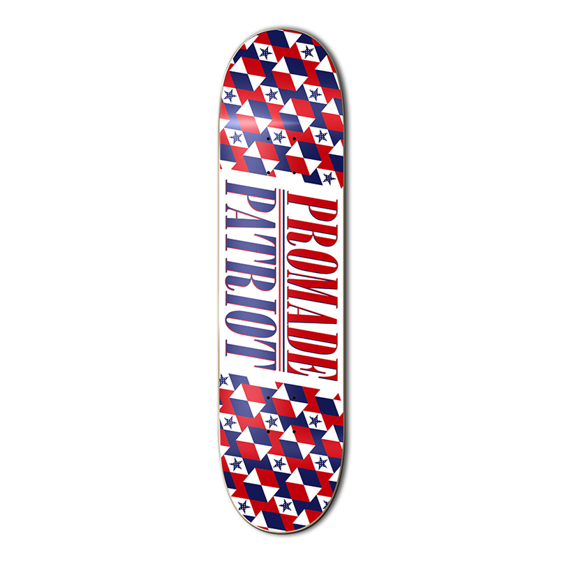 Quality 7.875-8.25inch USA BRAND PROMADE skate boarding deck made by Canadian Maple for pro sk8er to skating in the park 8 inch new arrived chocolate decks simple logo pattern made by canadian maple wood shape skateboard deck for pro sk8er