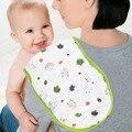2 pçs/lote 100% algodão 6 camadas de gaze bebê bib almofada de ombro leite regurgitam toalha para 0-5years bebê espessamento