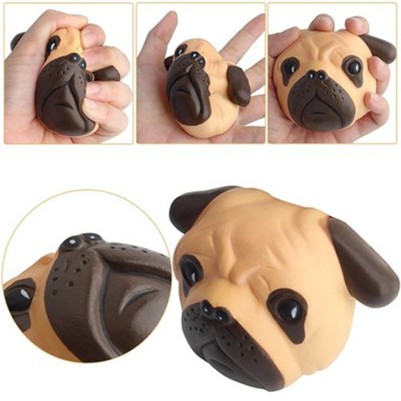 Slow Rising Serious funny a dog Head Squeeze Squishes Anti-stress Toys Soft Squishy Animal Toy For Kids Hands Phone Anti-stress