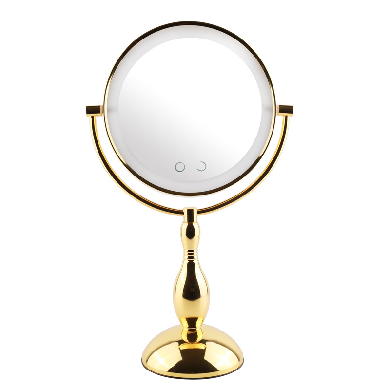 8Metal Lighted Makeup Mirror Round Tabletop Dimmable Magnifying Double Sided Vanity Mirror Screen Touch Switch Cosmetic Mirror8Metal Lighted Makeup Mirror Round Tabletop Dimmable Magnifying Double Sided Vanity Mirror Screen Touch Switch Cosmetic Mirror