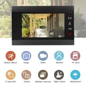 Image 2 - السلكية فيديو إنترفون HD 960P الفيديو باب الهاتف للمنزل 130 درجة الجرس كاميرا كشف الحركة سجل المنزل نظام اتصال داخلي كيت