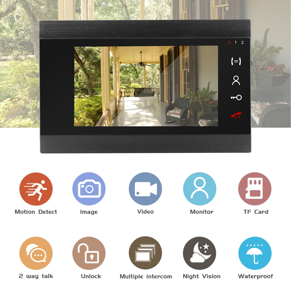 Image 2 - Wired Video Intercom HD 960P Video Door Phone for Home 130 degree Doorbell Camera Motion Detect Record Home Intercom System Kit-in Video Intercom from Security & Protection