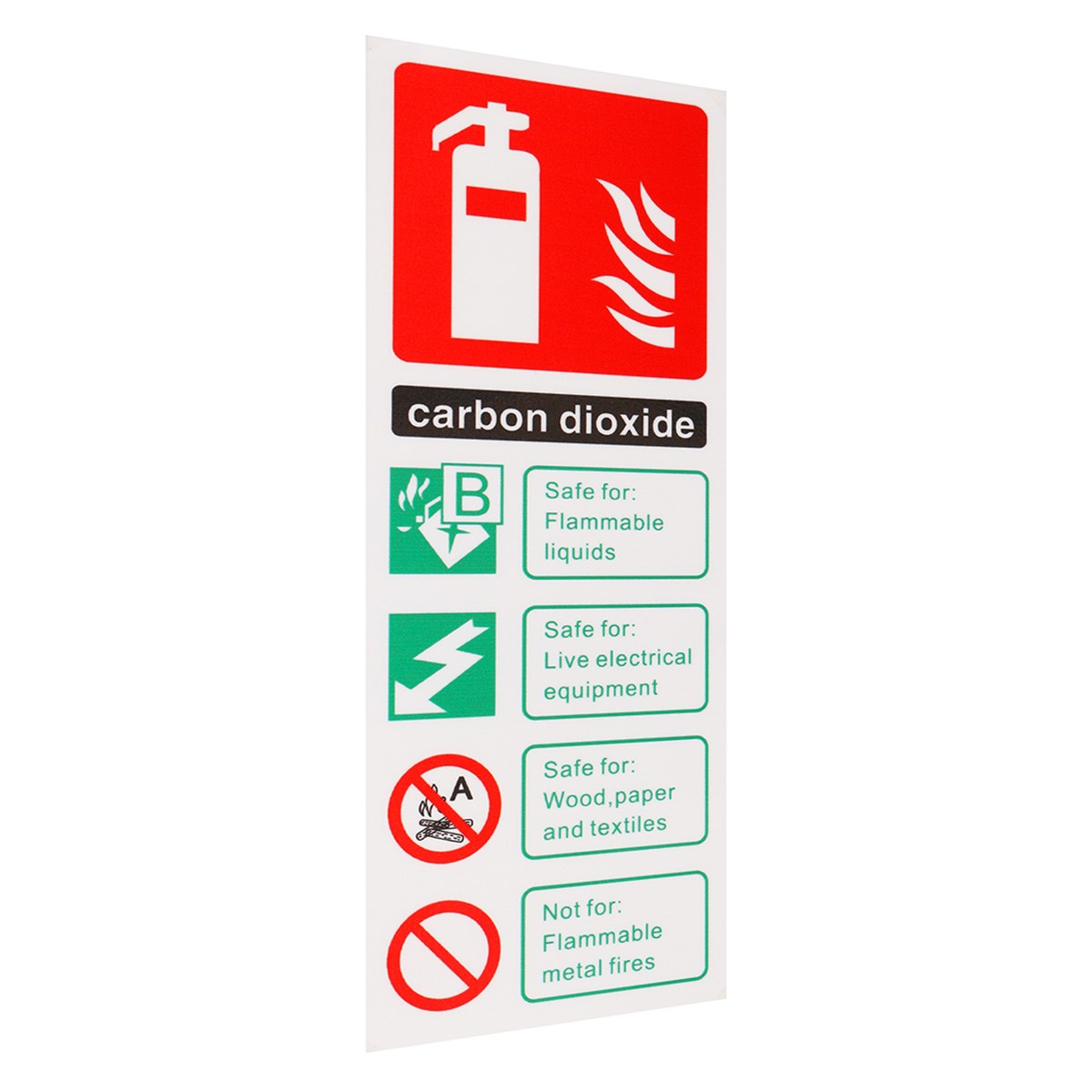 NEW Fire Extinguisher Carbon Dioxide ID Sticker Sign Sticker Decal Warning Safety Workplace SafetyNEW Fire Extinguisher Carbon Dioxide ID Sticker Sign Sticker Decal Warning Safety Workplace Safety