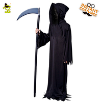 Boys Grim Reaper Costumes Kids Scary Devil Role Play Fancy Dress Halloween Masquerade Party Monster Demon
