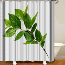 Shower Curtain Flowers Trees Print Blackout Curtains Waterproof Mildew-proof Bathroom Curtain 71x71