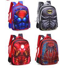 3 Superhero Orthopedic Schoolbag Backpack For Children In Gr