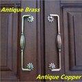 """160mm instável do vintage porta do armário cômoda lida com gaveta do armário de bronze antigo bronze vermelho lidar com 6.3 """"punho da mobília do vintage"""