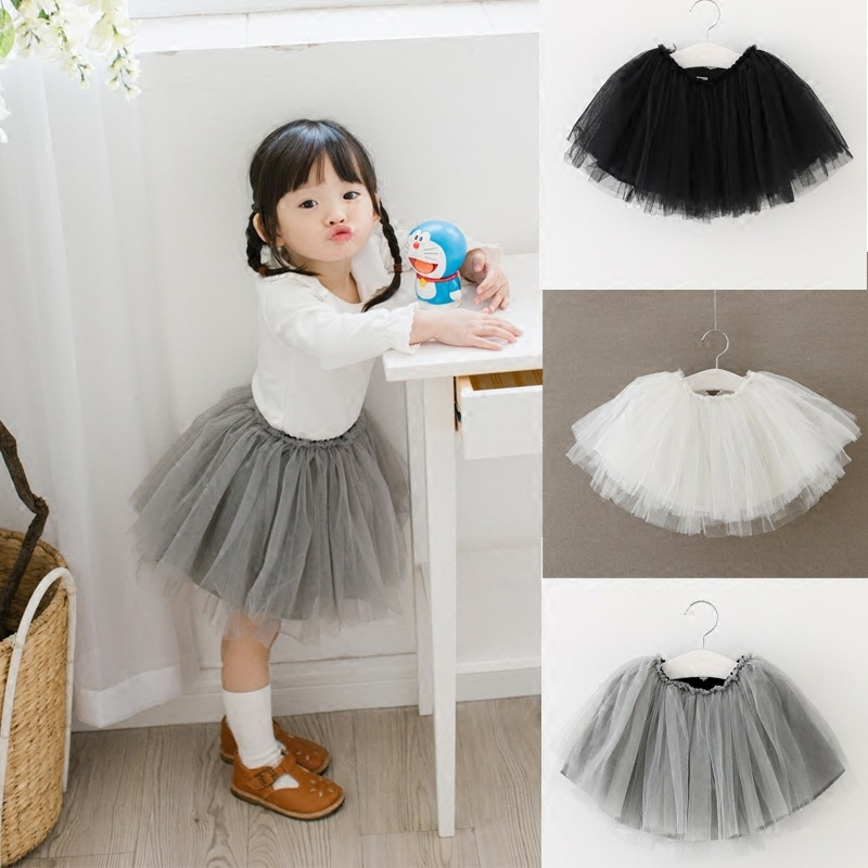 1 3Y Kids TUTU Skirt Baby Girls Party Skirt with Tulle Knee Length Toddler Girls TUTU Skirts ...