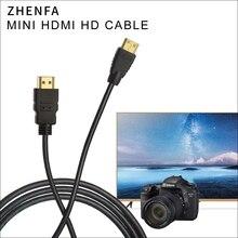 Zhenfa cabo hdmi para hdmi, 1.5m 3m 5m mini hdmi para câmera nikon dslr d5300 d7000 d90 d600 d800 d800e d3100 d3200 d3300 d5100 d5200