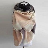 Luxe Merk Kallove sjaal za winter grote vierkante Sjaal Plaid vrouwen Sjaal Unisex Acryl Sjaals deken sjaals warm bufandas