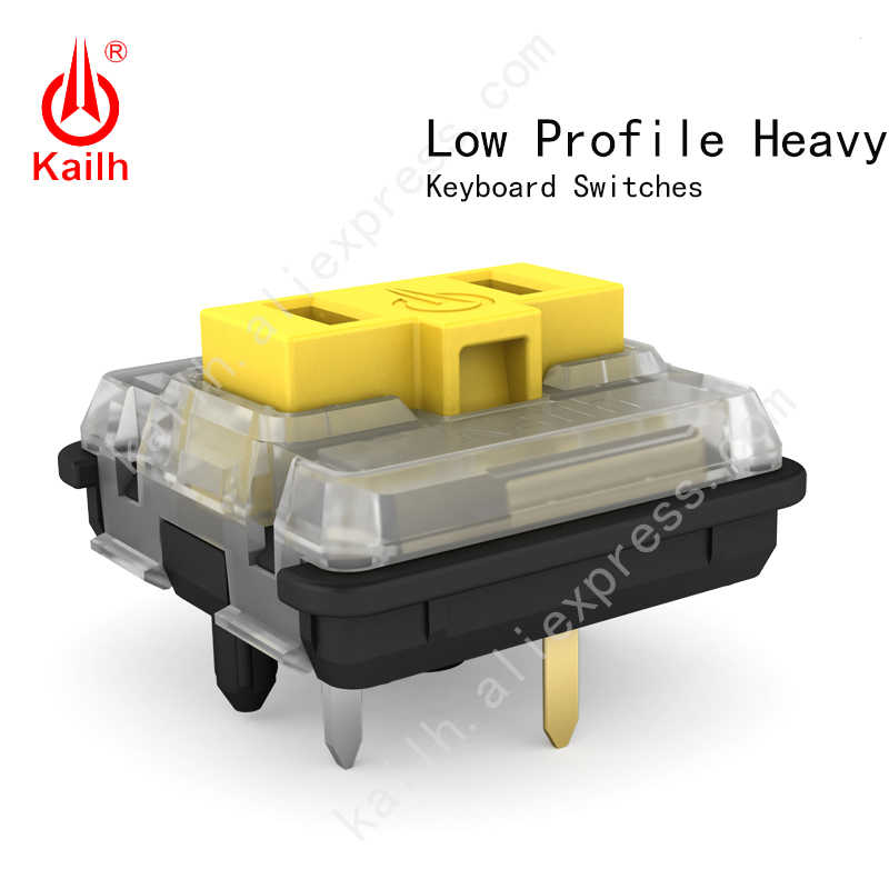 Kailh CHOC LOW PROFILE Heavys สวิทช์ ChocThink คลิก RGB SMD,Linear,60 GF Force,50 ล้านรอบ