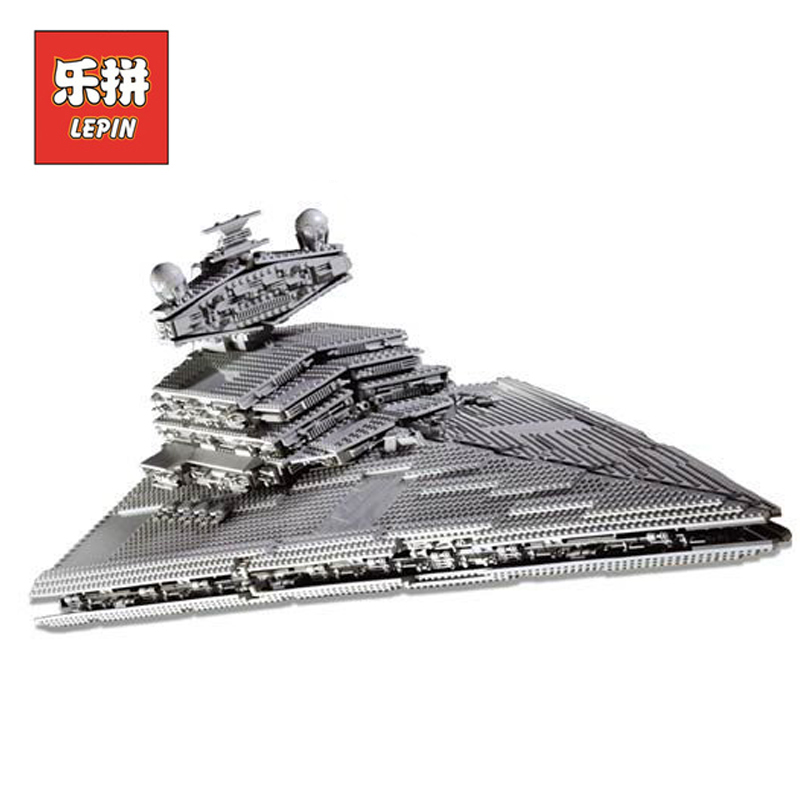 DHL Lepin 05027 3250Pcs Star Wars Figures Imperial Star Destroyer Set Model Building Kits Blocks Bricks Boy Toy Compatible 10030 lepin sets star wars figures 3250pcs 05027 imperial star destroyer model building kits blocks bricks educational kid toys 10030