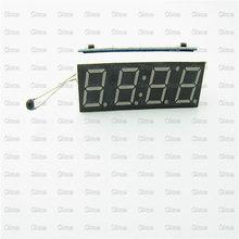 Car LED Digital tube Clock Voltage Detector Temperature Detection Module