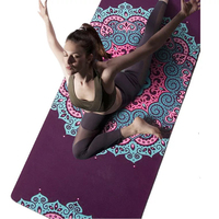 5MM Natural rubber suede non slip yoga mat Environmental friendly portable sport mat 183cm * 68cm fitness mat yoga mat