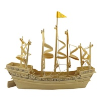 Wood Educational Ancient Sailboat Ming Dynasty Ship 3D Puzzle Scale Model Building