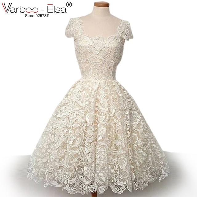 Aliexpress.com : Buy Cute short wedding dress 2017 beach wedding ...