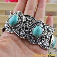 Classical Women's Retro Vintage Natural Silver Cute Tibet Bracelet 4TQF