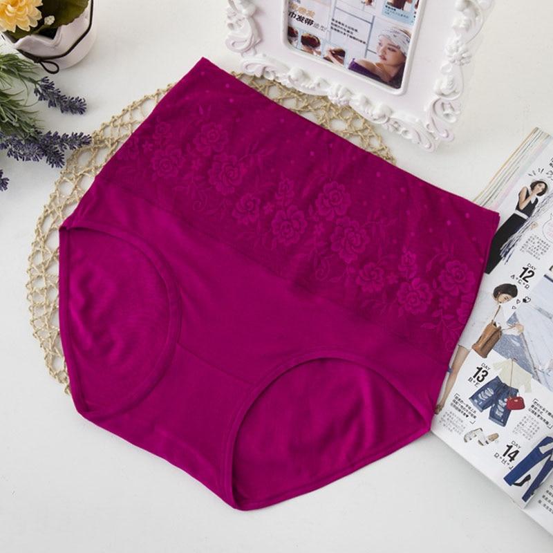AS10 Dameundertøj Plus Størrelse Blondertrusser Midt-stigende Spandex-underbukser Behagelige kvinder Lingeri-trusser Forskellige stilarter