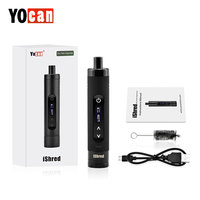 Original Yocan IShred Dry Herb Vaporizer Kit with 2600mAh Battery & LCD Display & Ceramic Heating Chamber E cig Vape Starter Kit