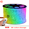 17m 18m 19m SMD 5050 RGB LED Strip 220v Waterproof Led Lights IP65 Led Verlichting Neon