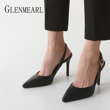 Women Pumps High Heels Brand Women Shoes Pointed Toe Woman Working Shoes Super High Thin Heels Spring Shoes Party Plus Size DE cheap GLENMEARL Basic Microfiber Super High (8cm-up) Fits true to size take your normal size Concise Shallow Casual Spring Autumn