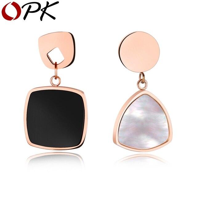OPK Fashion Asymmetry Women Statement Jewelry Personality Acrylic