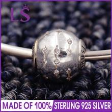 LS High Quality 100% S925 Silver Essence Trust Charm Beads Fit Original Essence Bracelets Pulseira Essencia. Real Fine Jewlery