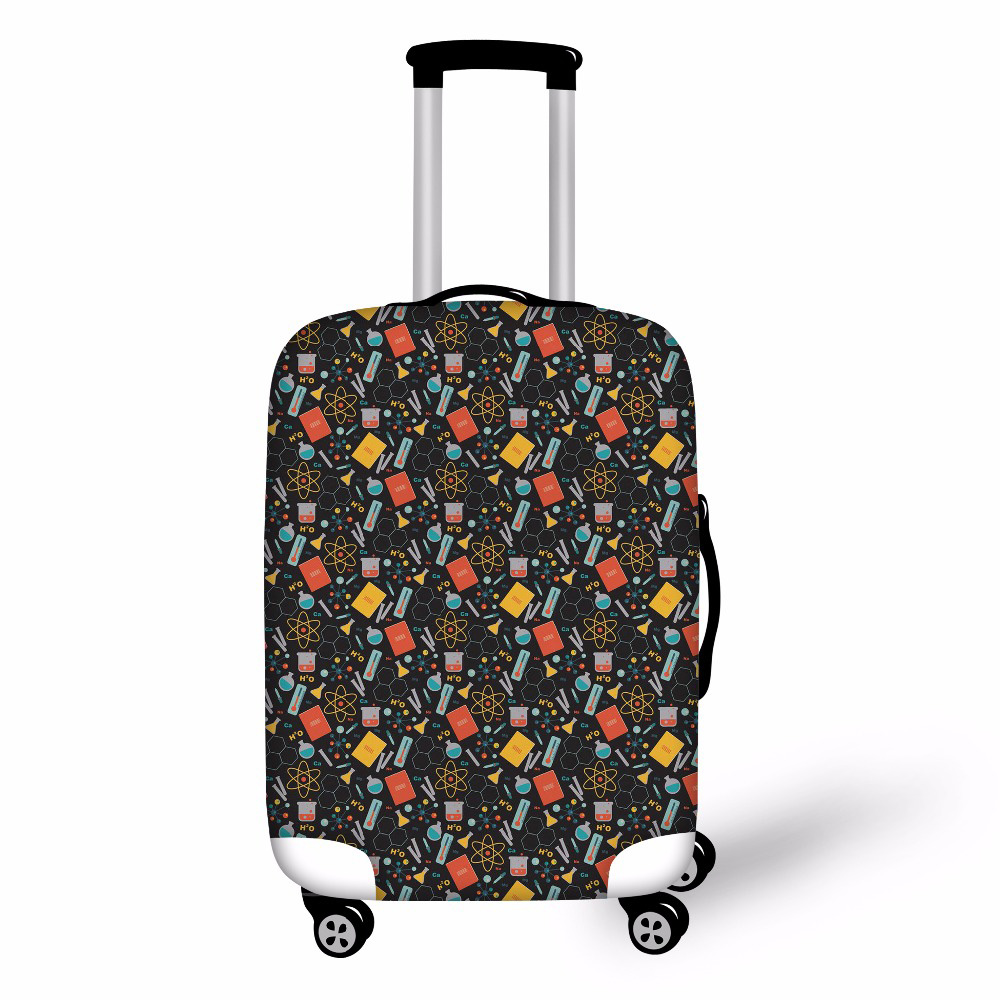 Travel On Road Luggage Cover Protective Suitcase Cover Scientist Pattern Trolley Case Travel Luggage Dust Cover