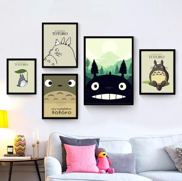 Miyazaki animation movie poster Totoro series decorative painting core children 's house decoration painting image