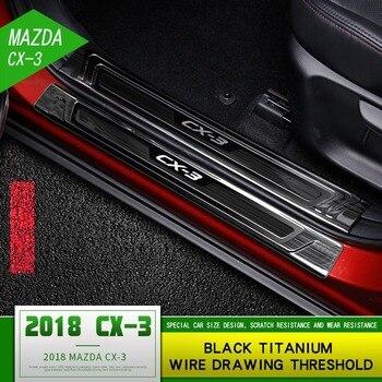 Mazda CX-3 เกณฑ์การปรับเปลี่ยน cx3 พิเศษสแตนเลสยินดีต้อนรับเหยียบขยายเหยียบตกแต่ง Stick