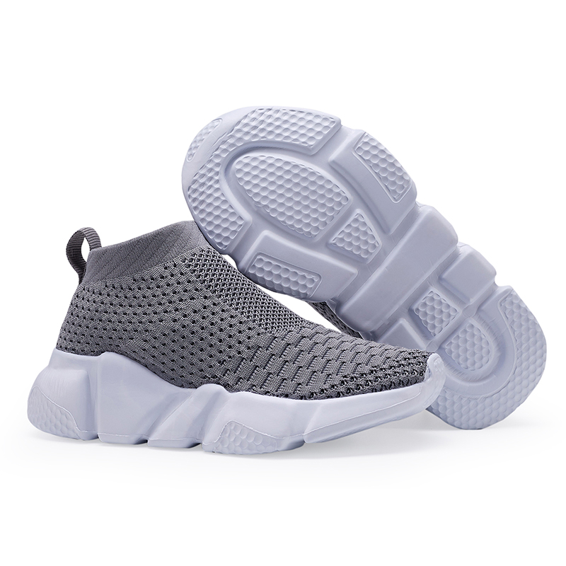 Kids Trainers Boys Socks Sneakers Non-slip Lace Up Casual Shoes Sport Size 26-37