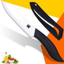 Xyj marca cuchillo rebanador cuchillo de cocina de 5 pulgadas con la hoja blanca + mango negro y una cubierta de alta calidad de cerámica de cocina cuchillos