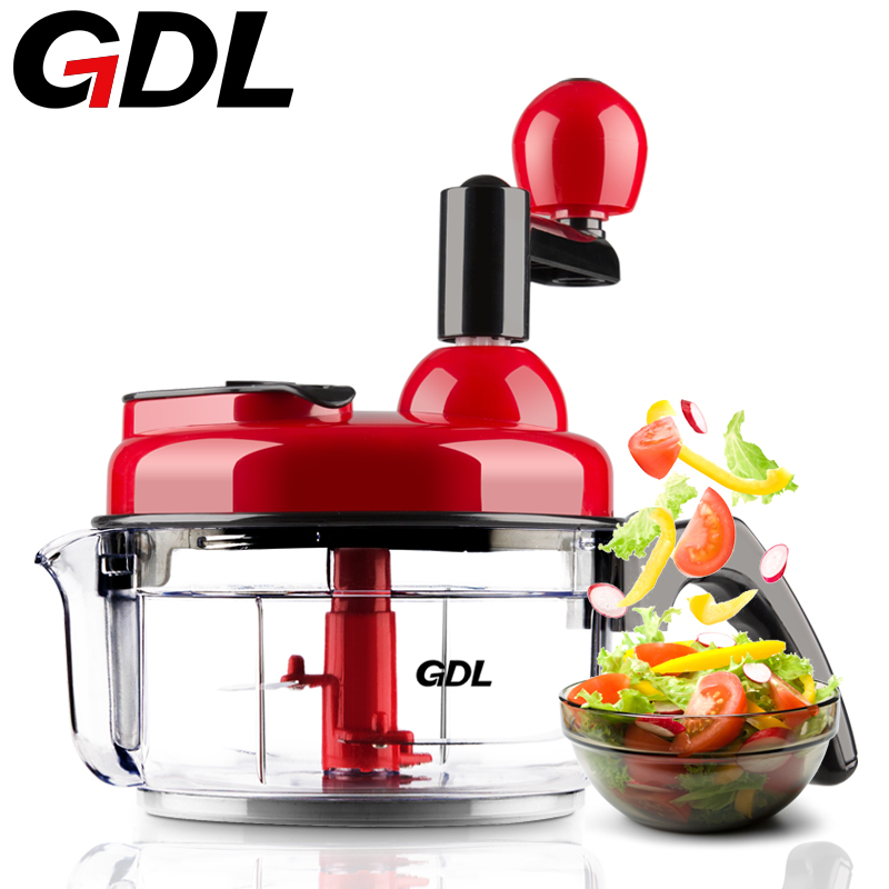 Manual meat grinder household multi - function  vegetables cutter food broken mixer  dumplings stuffing machine