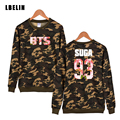 BTS Kpop Harajuku Camouflage Hoodies 2016 Autumn Bts Hoodie Sweatshirt Letter Print Bts V Women Plus Size Clothes Xxs-4xl
