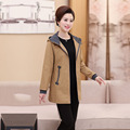 4XL Plus size autumn & spring Slim Casual Solid color Hooded trench coat for women 2017 new fashion Zipper womens windbreakers