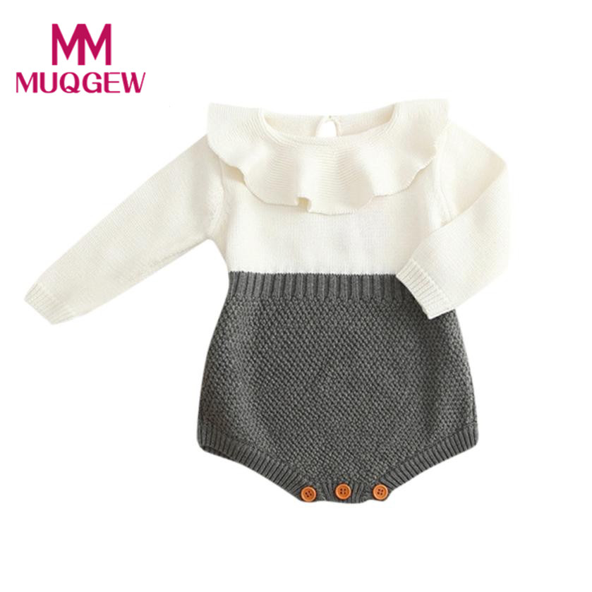 cb88e720a4 baby Girls Romper long sleeve Baby rompers knit Winter Princess Romper  Jumpsuit Baby Clothes Girls romper drop ship -in Bodysuits from Mother    Kids on ...