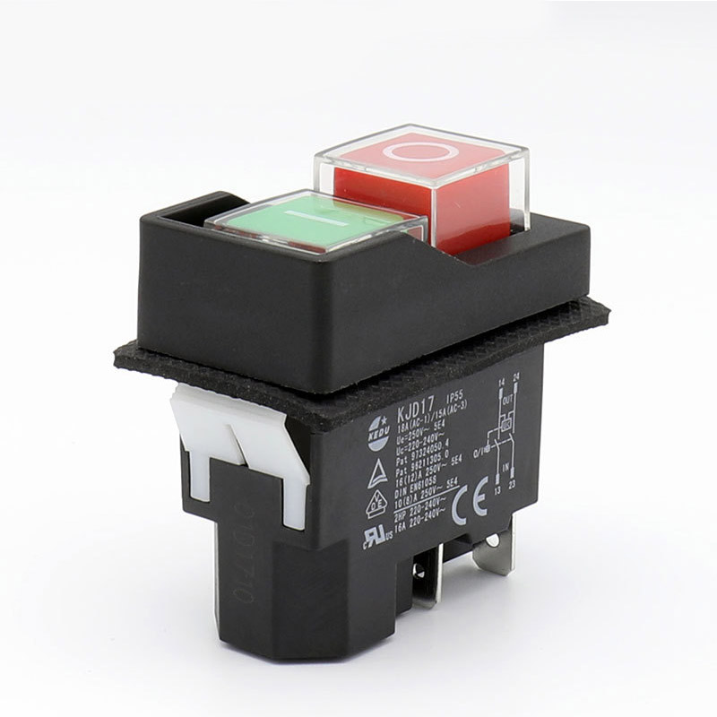 Ip55 waterproof push button electromagnetic switch 4 pin ac250v 16a ip55 waterproof push button electromagnetic switch 4 pin ac250v 16a magnetic starter power tool safety switches for machine tool in switches from lights publicscrutiny Gallery