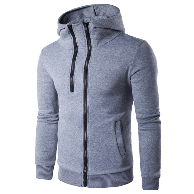 Mens One half zipper design Casual Hooded Sweat shirt