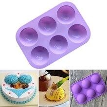 Маленькая полукруглая силиконовая форма для пудинга, силиконовая форма для торта, форма для мыла ручной работы, супер Q, круглая форма для шоколада 8A0534