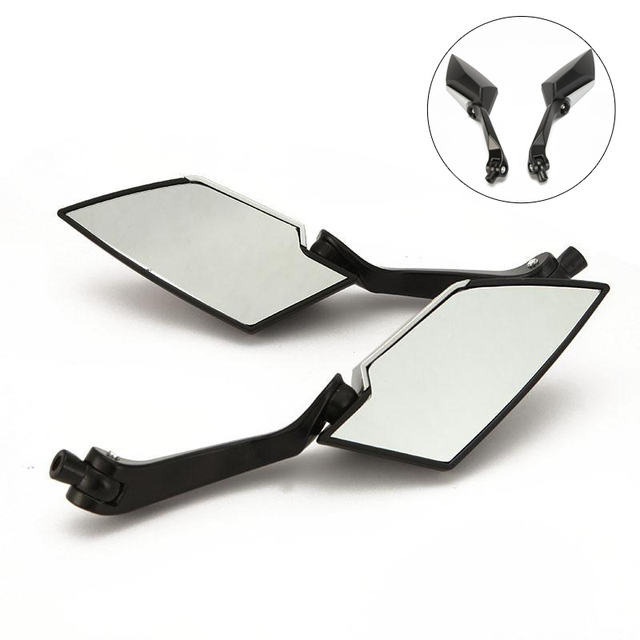 2x Universal Motorcycle Rearview Side Mirrors Motocross Rear View Mirror For Suzuki Bandit 1200 Boulevard GN250 GS1000G GS1100E