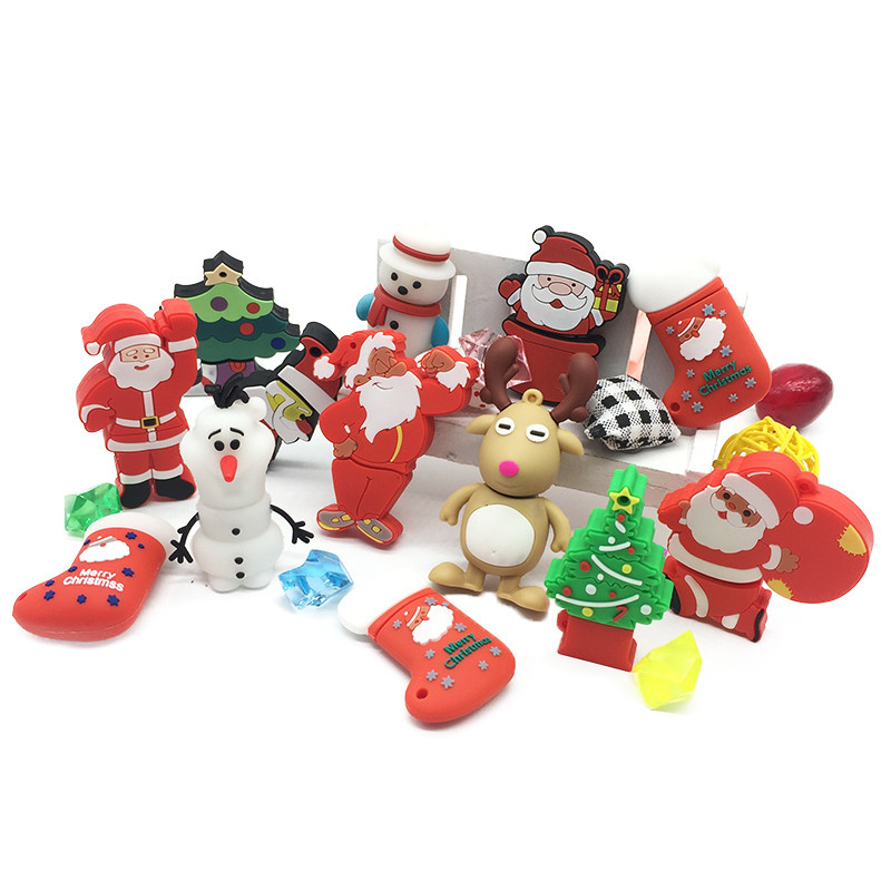 Christmas Cartoon Flash Drive Portable usb flash drive 4GB 8GB 16GB pendrive 32GB 64GB Elk Animal Series flash memory stick-in USB Flash Drives from Computer & Office
