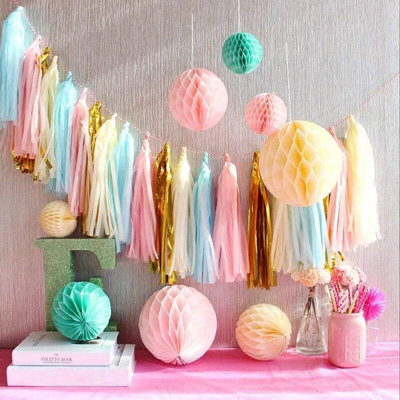 1 unids / lote 15 CM navidad Honeycomb Balls decoraciones de la - Para fiestas y celebraciones - foto 6