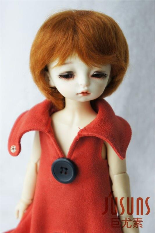 JD133  1/6 YOSD mohair doll wig Boyish short cut BJD Wigs 6-7inch doll accessories
